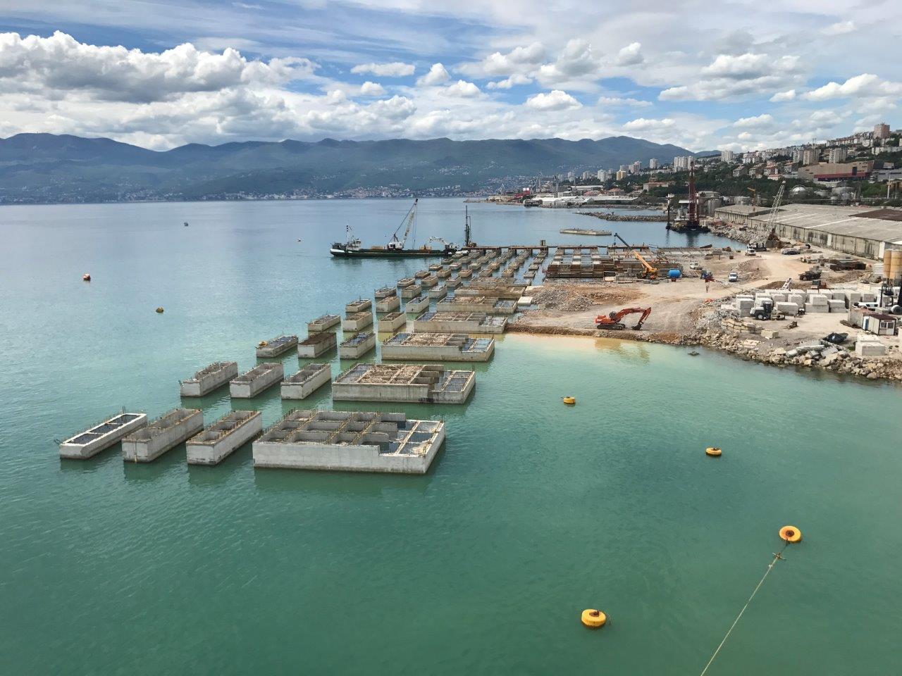 Izgradnja Zagreb Deep Sea kontejnerskog terminala - 2017. godina