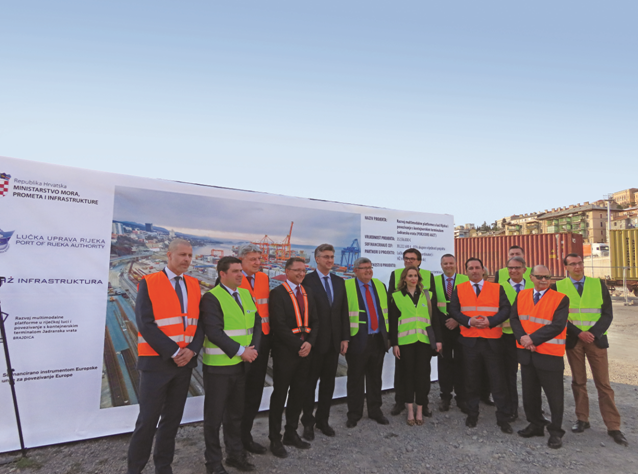 Prime minister Andrej Plenković visited the port of Rijeka