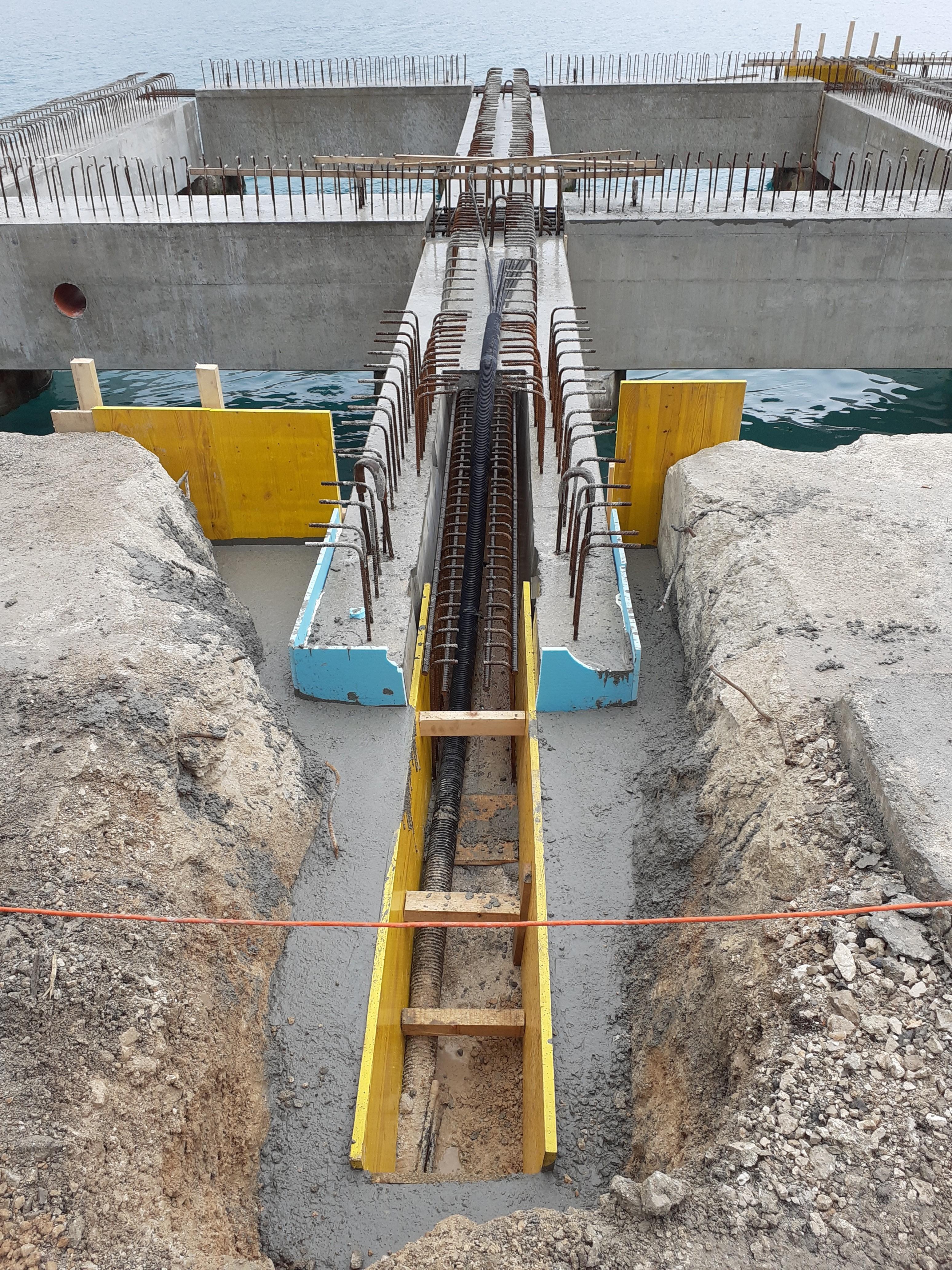 Položaj geotehničkog sidra u poprečnom nosaču