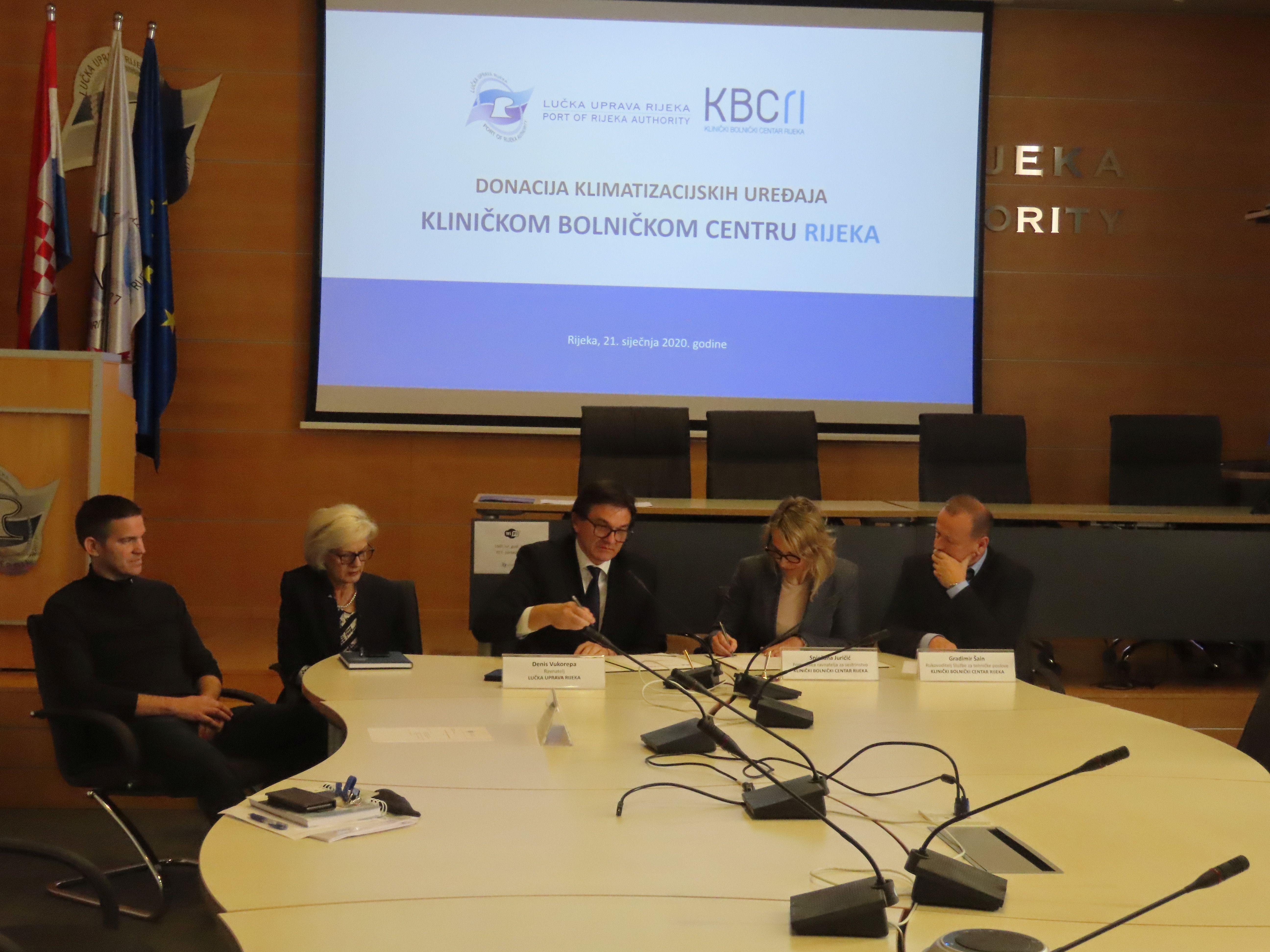 Donacija klimatizacijskih uređaja Kliničkom bolničkom centru Rijeka