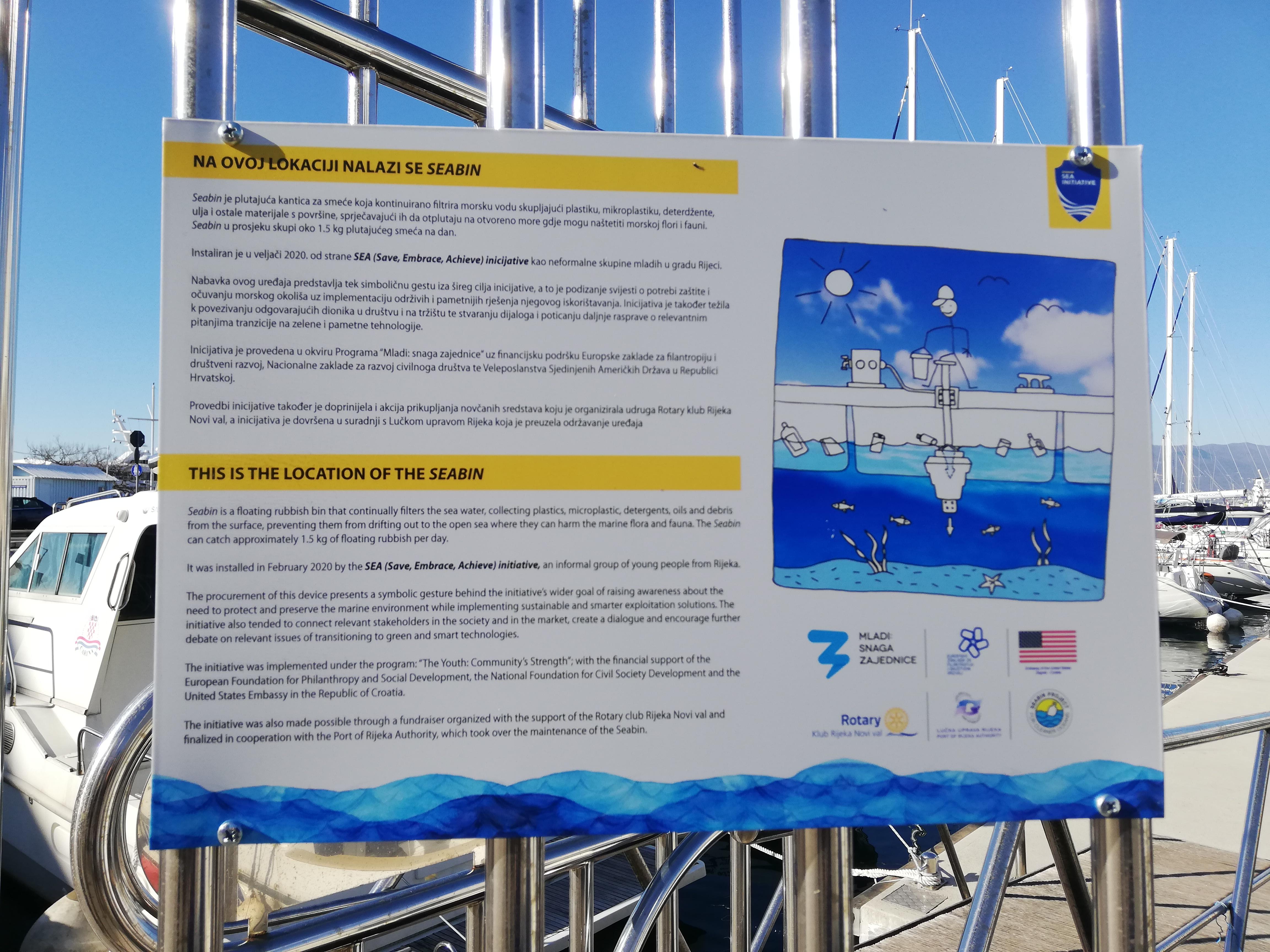 SEABIN – plutajuća kantica u putničkoj luci